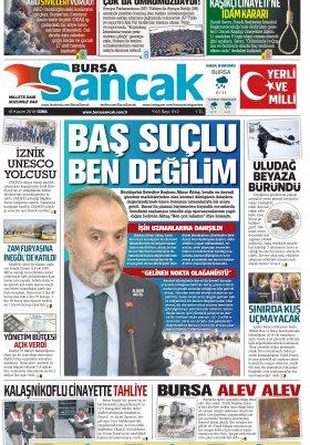 BURSA SANCAK GAZETESİ - 16.11.2018 Manşeti