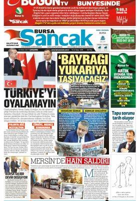 SANCAK GAZETESİ- 18.10.2017 Manşeti