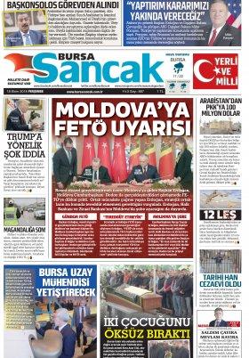 BURSA SANCAK GAZETESİ - 18.10.2018 Manşeti