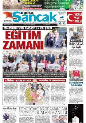 SANCAK GAZETESİ - 18.09.2018 Manşeti