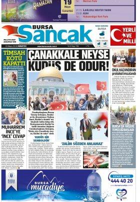 SANCAK GAZETESİ - 19.05.2018 Manşeti