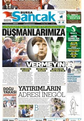 SANCAK GAZETESİ - 19.08.2017 Manşeti