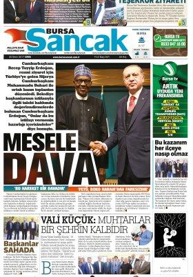 SANCAK GAZETESİ - 20.10.2017 Manşeti