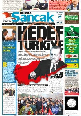 SANCAK GAZETESİ - 20.11.2017 Manşeti