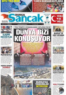 BURSA SANCAK GAZETESİ - 20.10.2018 Manşeti