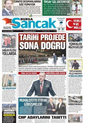 BURSA SANCAK GAZETESİ - 20.11.2018 Manşeti