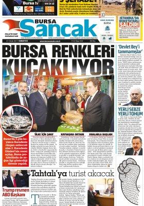 SANCAK GAZETESİ - 21.01.2017 Manşeti
