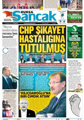 SANCAK GAZETESİ - 21.08.2017 Manşeti