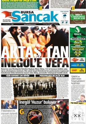 SANCAK GAZETESİ - 21.11.2017 Manşeti