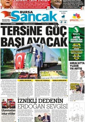 SANCAK GAZETESİ - 22.02.2017 Manşeti