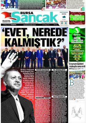 SANCAK GAZETESİ - 22.05.2017 Manşeti