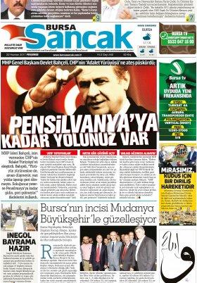 SANCAK GAZETESİ- 22.06.2017 Manşeti