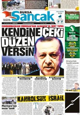 SANCAK GAZETESİ - 22.07.2017 Manşeti