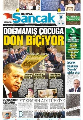SANCAK GAZETESİ - 22.08.2017 Manşeti