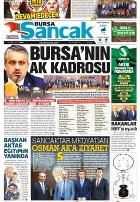 SANCAK GAZETESİ - 22.09.2017 Manşeti