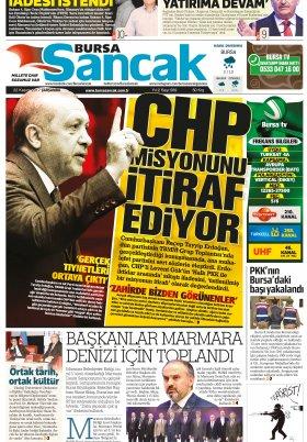 SANCAK GAZETESİ - 22.11.2017 Manşeti