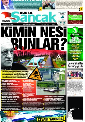 SANCAK GAZETESİ - 23.05.2017 Manşeti