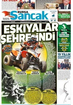 SANCAK GAZETESİ - 23.08.2017 Manşeti