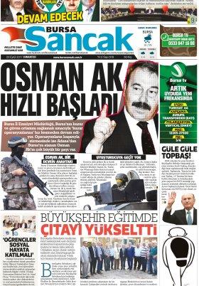 SANCAK GAZETESİ - 23.09.2017 Manşeti