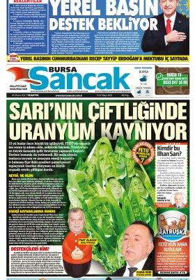 SANCAK GAZETESİ- 23.10.2017 Manşeti