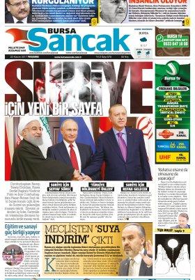 SANCAK GAZETESİ - 23.11.2017 Manşeti