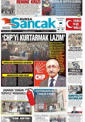 BURSA SANCAK GAZETESİ - 23.10.2018 Manşeti