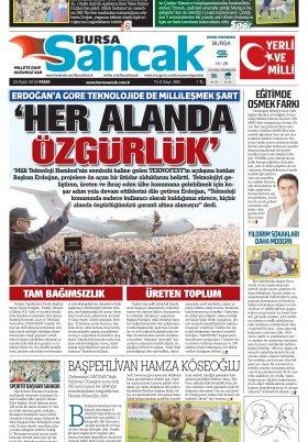 SANCAK GAZETESİ - 23.09.2018 Manşeti
