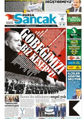 SANCAK GAZETESİ- 24.11.2017 Manşeti