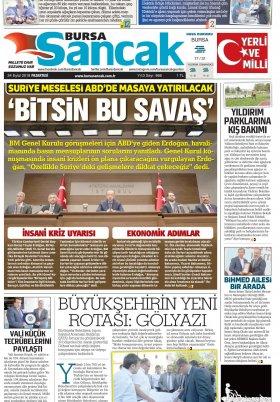 SANCAK GAZETESİ - 24.09.2018 Manşeti