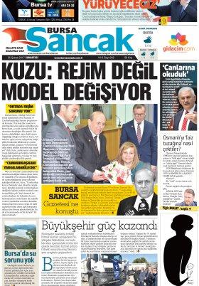 SANCAK GAZETESİ - 25.02.2017 Manşeti