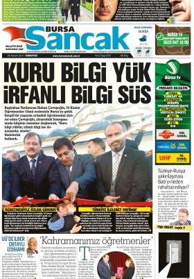 SANCAK GAZETESİ - 25.11.2017 Manşeti