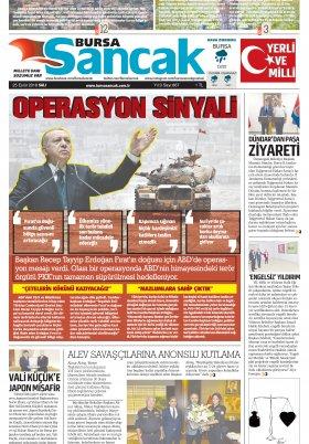 SANCAK GAZETESİ - 25.09.2018 Manşeti