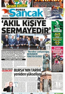 SANCAK GAZETESİ - 26.09.2017 Manşeti