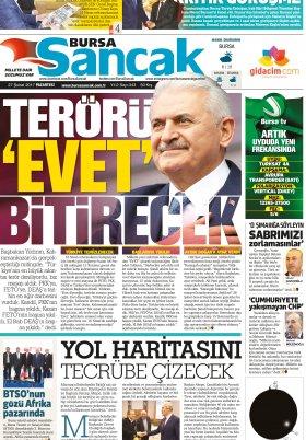 SANCAK GAZETESİ - 27.02.2017 Manşeti