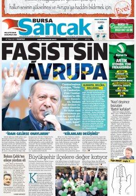 SANCAK GAZETESİ - 27.03.2017 Manşeti