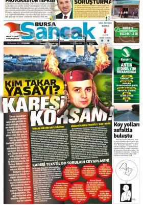 SANCAK GAZETESİ- 29.06.2017 Manşeti