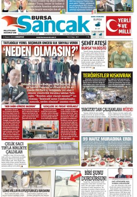 BURSA SANCAK GAZETESİ - 03.11.2018 Manşeti
