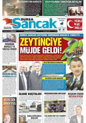 BURSA SANCAK GAZETESİ - 8.12.2018 Manşeti