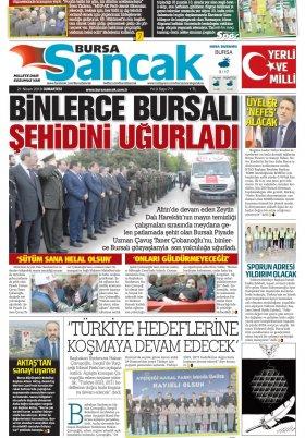 SANCAK GAZETESİ - 21.03.2018 Manşeti