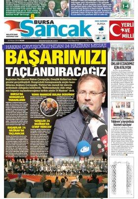 SANCAK GAZETESİ - 22.04.2018 Manşeti