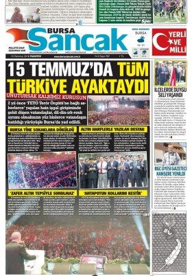 SANCAK GAZETESİ - 16.07.2018 Manşeti