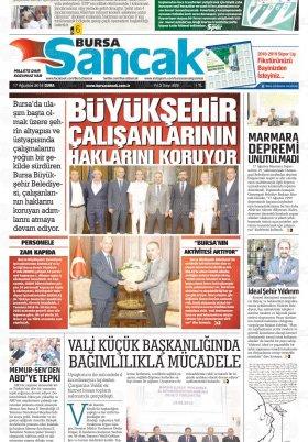 SANCAK GAZETESİ - 17.08.2018 Manşeti