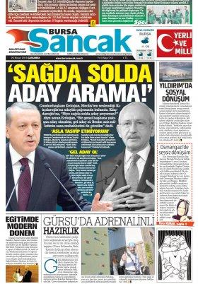 SANCAK GAZETESİ - 25.04.2018 Manşeti