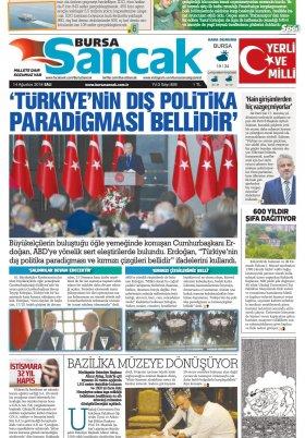SANCAK GAZETESİ - 14.08.2018 Manşeti