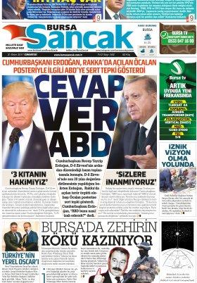 SANCAK GAZETESİ - 21.10.2017 Manşeti