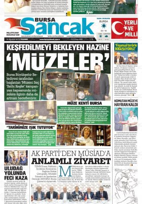 SANCAK GAZETESİ - 16.08.2018 Manşeti