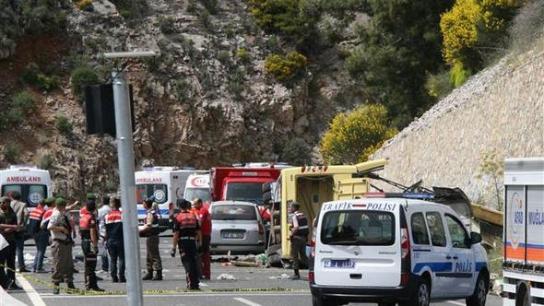 Kaza yapan aracın Buca'dan yola çıkışı