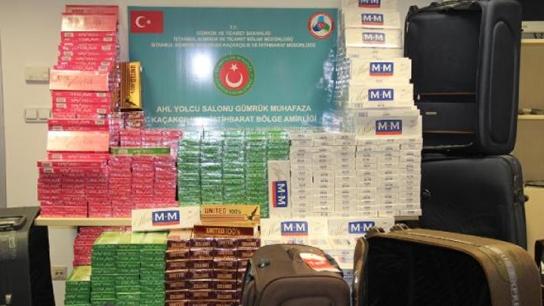 Atatürk Havalimanı'nda kaçak sigara operasyonu
