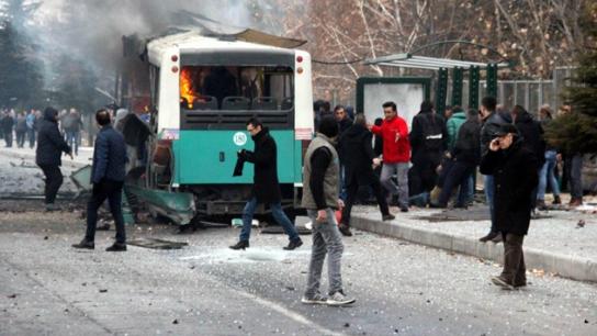 Kayseri'deki saldırı sonrası ilk görüntüler
