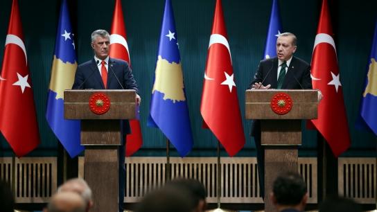 Kosova Cumhurbaşkanı Taçi Ankara'da